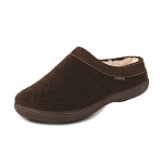 Old Friend Footwear - 340154 - Women's Sheepskin Curly Slipper - Chocolate Brown