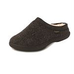 Old Friend Footwear - 340154 - Women's Sheepskin Curly Slipper - Charcoal