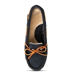 Old Friend Footwear - 340156 - Women's Kelly Moccasin Slipper - Navy Blue