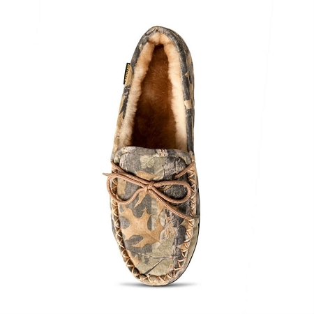 0805ffb7283da Old Friend Footwear 421124 - Men's Sheepskin Camouflage Moccasin