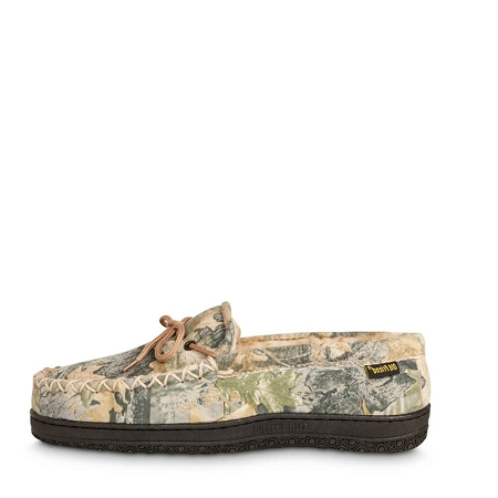 dd77fa28e699b Old Friend Footwear - 421124 - Men's Camouflage Moccasin - 100% Sheepskin  Lining