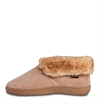Old Friend Footwear - 421219 - Men's Sheepskin Ankle Boot - Wide Width - 100% Sheepskin Lining - Chestnut -  8W thru 16W