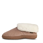 Old Friend Footwear - 441120 - Women's Sheepskin Ankle Boot - Chestnut / White Fleece