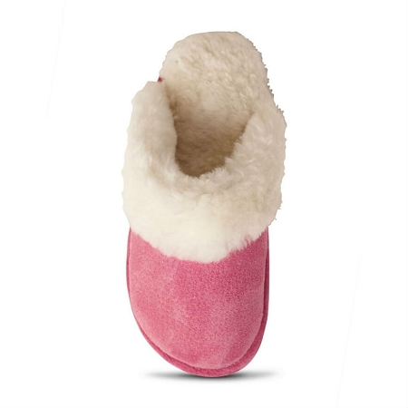 Old Friend Footwear - 441169 - Women's Sheepskin Scuff Slipper - Hot Pink