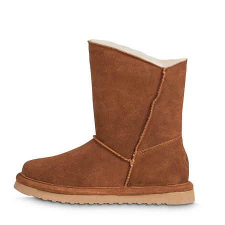 Old Friend Footwear - 441195 - Women's Sheepskin Ewey Boot - Chestnut