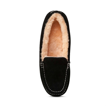Old Friend Footwear - 441310 - Women's Sheepskin Bella Moccasin - Black