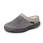 Old Friend Footwear - 340153 - Women's Terry Cloth Clog Slipper - Grey