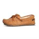 Old Friend Footwear - 340158 - Women's Sheepskin  Mo Moccasin - Tan