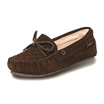 Old Friend Footwear - 340158 - Women's Sheepskin  Mo Moccasin - Chocolate