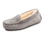 Old Friend Footwear - 441310 - Women's Sheepskin Bella Moccasin - Grey