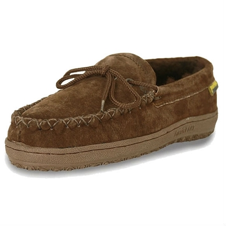 Old Friend Footwear - 441166 - Women's Sheepskin  Loafer Moccasin - Dark Brown