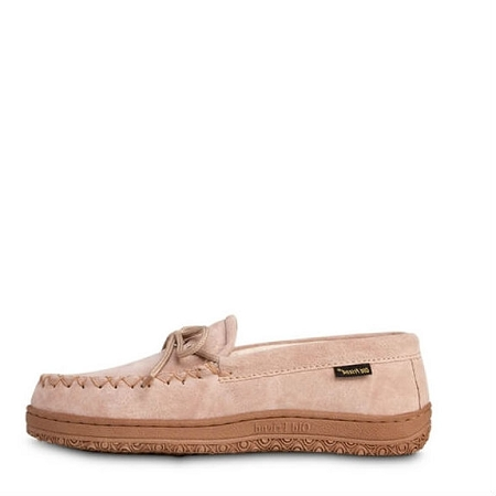 Old Friend Footwear - 484132 - Women's Terry Cloth Moccasin - Chestnut / Terry Cloth