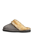 Old Friend Footwear - 548145 - Women's Fleece Buffy Slipper - Grey