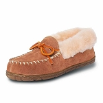 Old Friend - Women's Fina Moccasin - 441330 - High Cuff Shearling Lining - Tan
