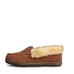 Old Friend Footwear - 548155 - Women's Fleece Zoey Slipper - Chestnut