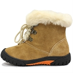 Oomphies For Kids - Youth Bianca Boot - Chestnut Suede - OK1521