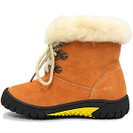 Oomphies For Kids - Youth Bianca Boot - Rust Suede - OK1521