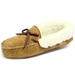 Oomphies For Kids - Kids Moccasin - Chestnut Suede - OK1292