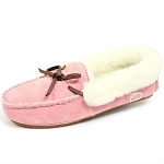 Oomphies For Kids - Kids Moccasin - Pink Suede - OK1292