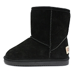 Oomphies For Kids - Kids Classic Boot - Black Suede - K0712