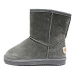 Oomphies For Kids - Kids Classic Boot - Charcoal Suede - K0712