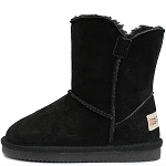 Oomphies For Kids - Little Liberty Kids Boot - Black Suede - OK1596