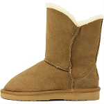 Oomphies For Kids - Little Liberty Kids Boot - Chestnut Suede - OK1596