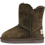 Oomphies For Kids - Little Liberty Kids Boot - Chocolate Suede - OK1596