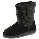 Oomphies For Kids - Kids Sequin Patterned Boot - Black - K5005