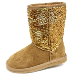 Oomphies For Kids - Kids Sequin Patterned Boot - Chestnut - K5005