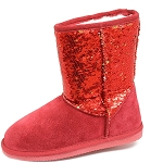 Oomphies For Kids - Kids Sequin Patterned Boot - Red - K5005