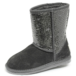 Oomphies For Kids - Kids Sequin Patterned Boot - Silver - K5005