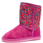 Oomphies For Kids - Girls Sequin Patterned Boot - Multi Sequin - CK1460