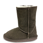 Oomphies For Kids - Youth Classic Boot - Chocolate Suede - Y0712