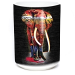 Painted Elephant - 57-6322-0900 - Coffee Mug