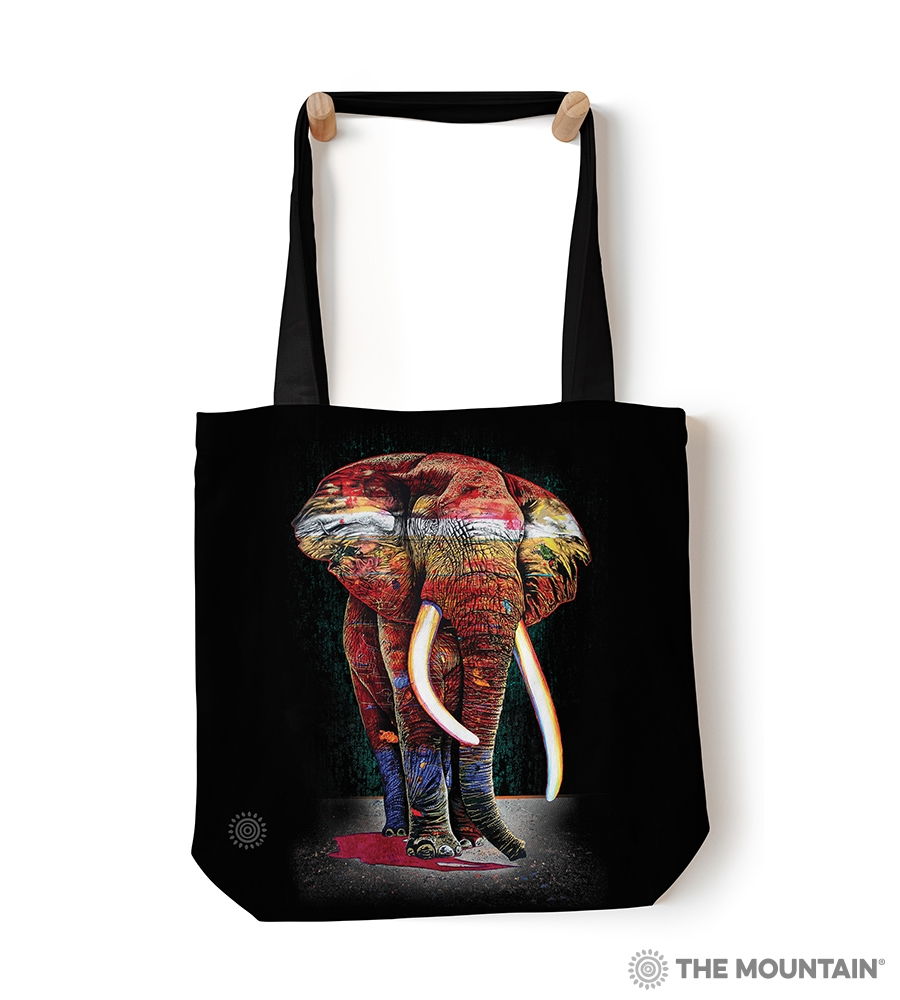 Painted Elephant - 97-6322 - Everyday Tote