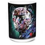 Painted Jaguar - 57-6324-0900 - Coffee Mug