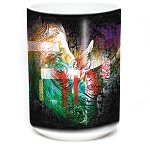 Painted Rhino - 57-6325-0900 - Coffee Mug