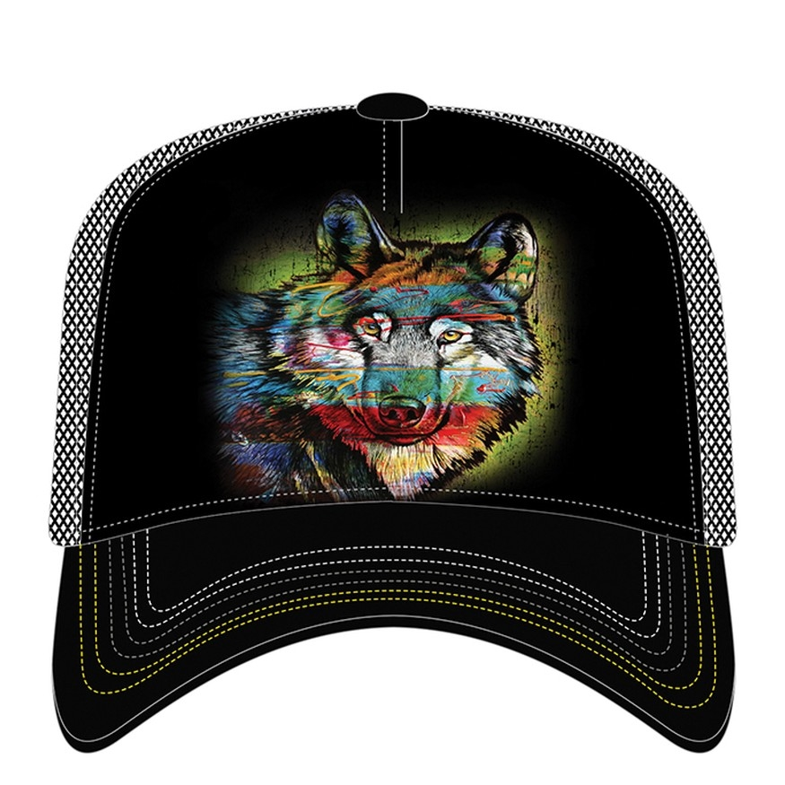 Painted Wolf - 76-6320 - Trucker Hat