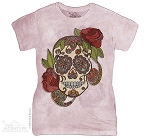 Paisley Sugar Skull - Ladies Fitted Tee