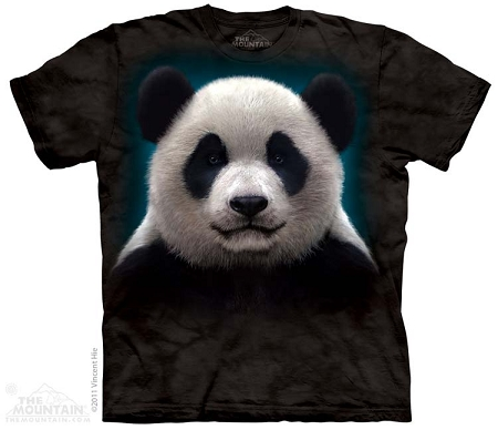 Panda Head - 10-3279 - Adult Tshirt