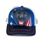 Patriotic Black Lab - 76-5972 - Trucker Hat