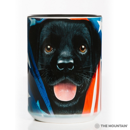 Patriotic Black Lab Pup - 57-5972-0900 - Everyday Mug
