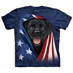 Patriotic Black Lab - 15-5972 - Youth Tshirt