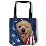 Patriotic Golden Pup - 97-5905 - Everyday Tote