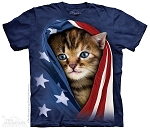 Patriotic Kitten - 10-3941 - Adult Tshirt
