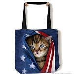 Patriotic Kitten - 97-3941 - Everyday Tote