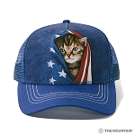 Patriotic Kitten - 94-3941 - Trucker Hat