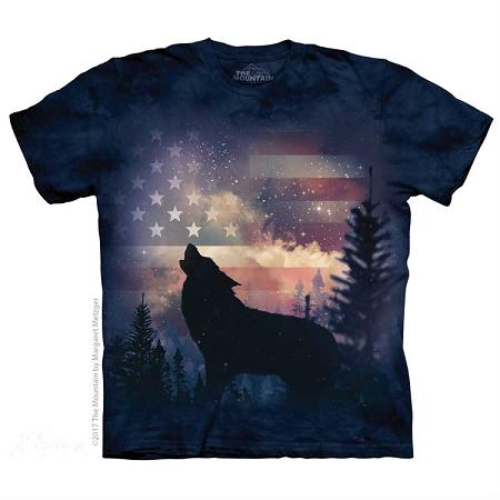 Patriotic Wolf Howl - 10-5971 - Adult Tshirt 8bf65d72dd0e