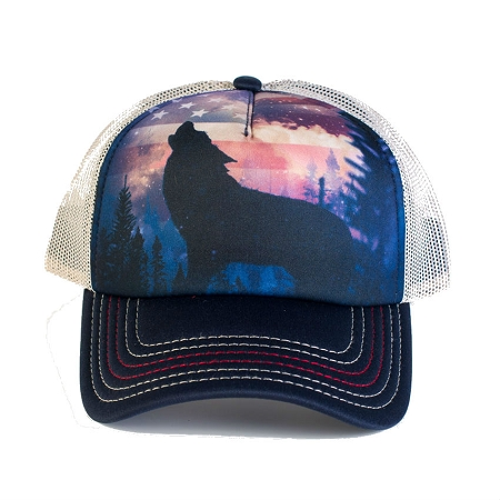 Add to My Lists. Patriotic Wolf Howl - 76-5971 - Trucker Hat 8294dcb2ae81